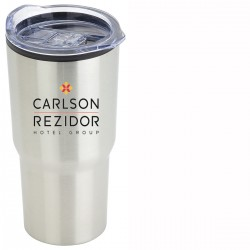 20 oz Double Wall Travel Mug Full Color Laser Engraved Screen Printed and Etched