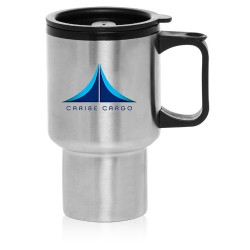 14 oz Double Wall Thermal Mug with Insulated Plastic and Lid