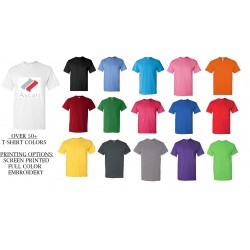 Gildan Heavy Duty 5.3 oz 100% Pre Shrunk Cotton Seamless Rib Apparel T-Shirt