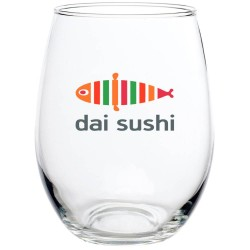 21 oz Large Restaurant Promotional Personalized Stemless Wine Glass