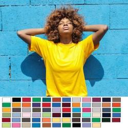 USA PRINTED LADIES GILDAN SCREEN PRINTED OR EMBROIDERED  6.1 oz 100% Cotton Ladies Shirt