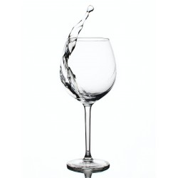 USA Made 10.5 oz Imprinted Wine Glasses With Rounded Stem