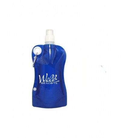 Collapsible Foldable  Water Bottle with Carabiner