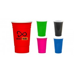 USA Made Double Insulated Plastic Gameday Beverage Travel Cups