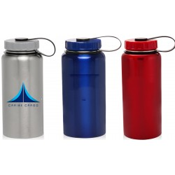 34 oz Stainless Steel Travel Bottle with Carrying Handle