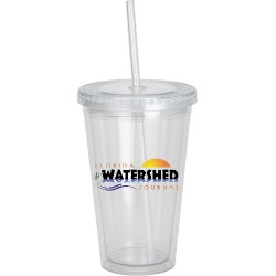 Acrylic Tumbler Mug with Lid and Straw