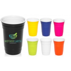 16 oz Double Wall Plastic Gameday Beverage Travel Cups