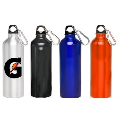 24 oz Classic Aluminum Oryza Travel Bottles with Carabiner